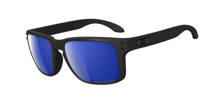 Oakley Holbrook Matte Black/Ice Iridium Polarised