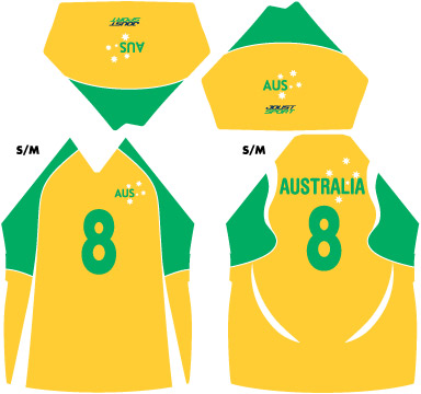 Goalball Australia Gold Playing Top