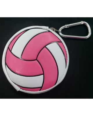 Tandem Volleyball Coin Purse - Pink/White