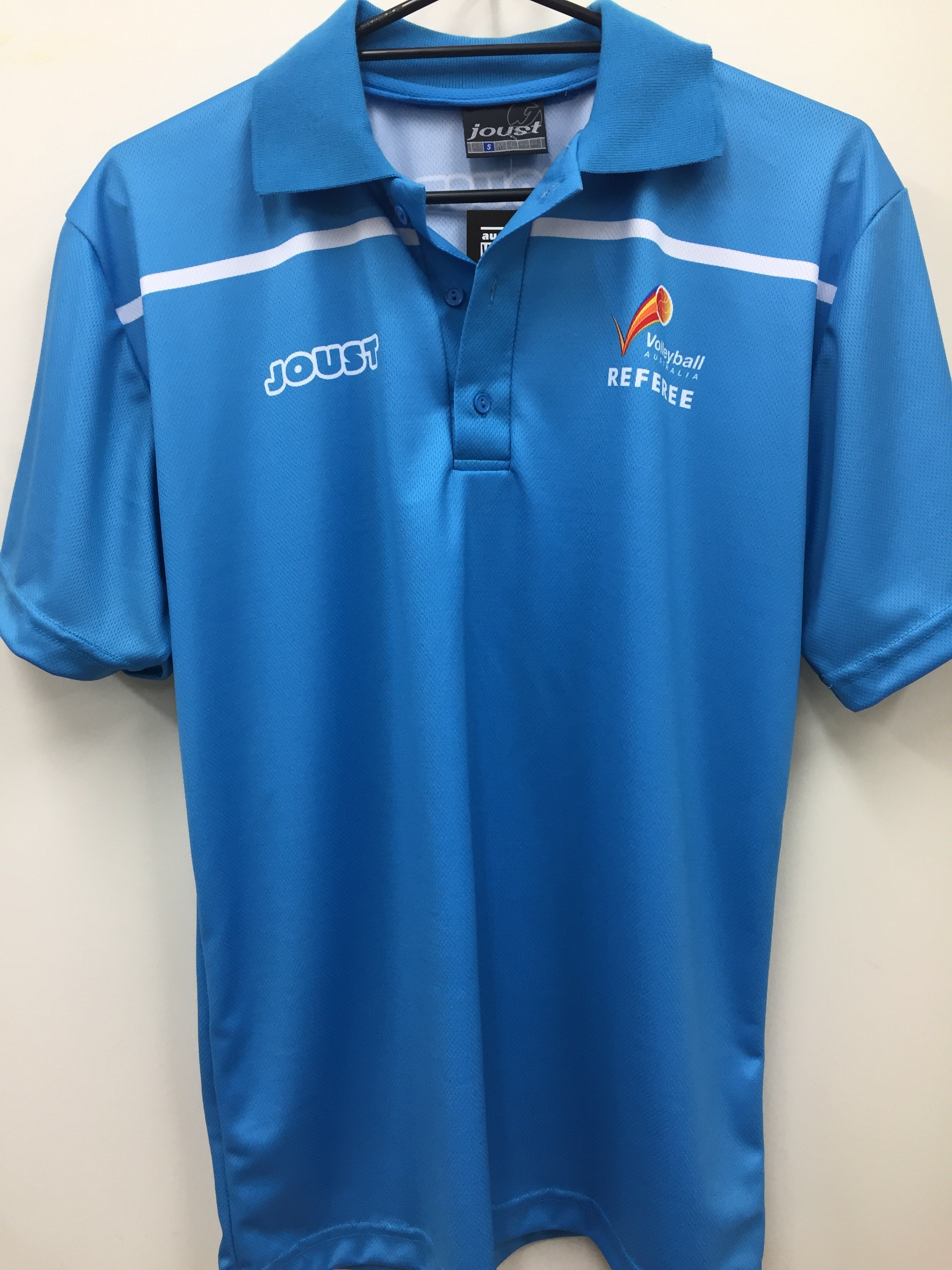 Volleyball Australia Short Sleeve Referee Polo - Blue